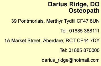 Osteopath Care contact information on banner
